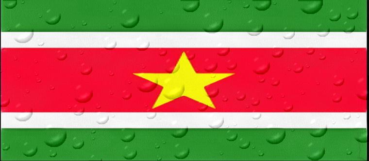drapeau surinam eau